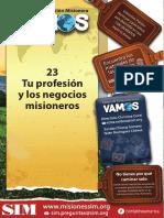 23 Tu profesión y los negocios misioneros