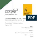 """""""SISTEMA DE BOMBEO DE AGUA UTILIZANDO PANELES SOLARES EN EL SECTOR BOYERO – C.P. PORCÓN ALTO"""""""