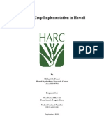 Biodiesel Crop Implementation in Hawaii HARC 2006