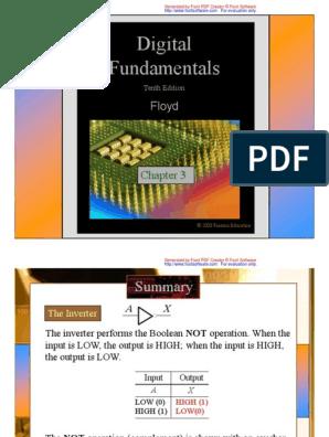 Digital Fundamentals Chapter 3 Thomas L Floyd Logic Gate Hardware Description Language