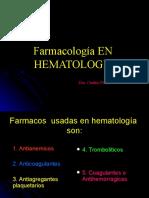 1. Farmacos usados  en  Hematologia