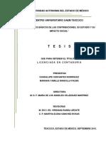 ELEMENTOS BÁSICOS DE LAS CONTRIBUCIONES, SU ESTUDIO Y SU IMPACTO SOCIAL tesis
