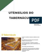 UTENSÍLIOS DO TABERNÁCULO
