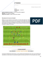 foot-entrainements.fr-Exercice foot  Garder lavance