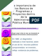 st - la importancia de los bancos de programas y proyectos dentro de la administración pública municipal - (45 diap. - 4.206 kb)