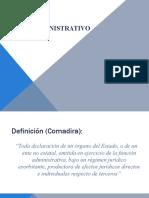 Elementos - Clase Acto Administrativo (1 2 y 3)