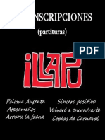 Transcripciones temas de ILLAPU