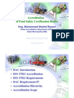 Accreditation of Food Safety Certification Bodies