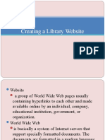 Creating a Library Website