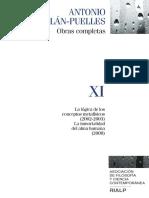 Antonio Millán Puelles. Obras completas (Volumen XI)