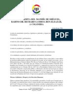 Carta Abierta del Manhíg de Shéguel a Colombia - Junio 2020
