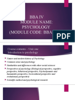 BBA psychology