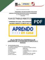 1.- PLAN DE TRABAJO REMOTO DOCENTE GCP