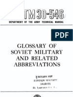 TM 30-546 1956 Obsolete) Glossary of Soviet Military and Related Abbreviations