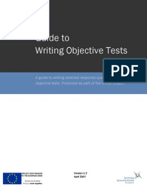 Objective Test Guide | Multiple Choice | Educational Assessment