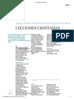 LECCIONES CRISTIANAS
