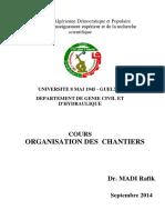 ORGANISATION DES CHANTIERS(0)