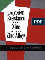 Zinc Resistance to Corrosion