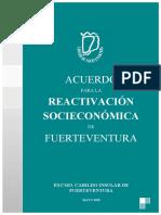 Plan de reactivación de Fuerteventura