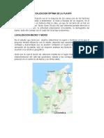 LOCALIZACION ÓPTIMA DE LA PLANTA PARA ENTREGAR