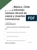 CORONAVIRUS EN AMERICA LATINA