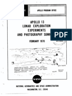 Apollo 13 Lunar Exploration Experiments and Photography Summary