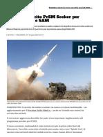 Test dell'esercito PrSM Cercatore di cacciare navi e SAM