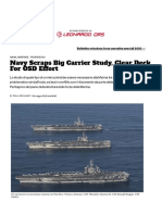 Navy Scraps Big Carrier Study, Clear Deck For OSD Effort