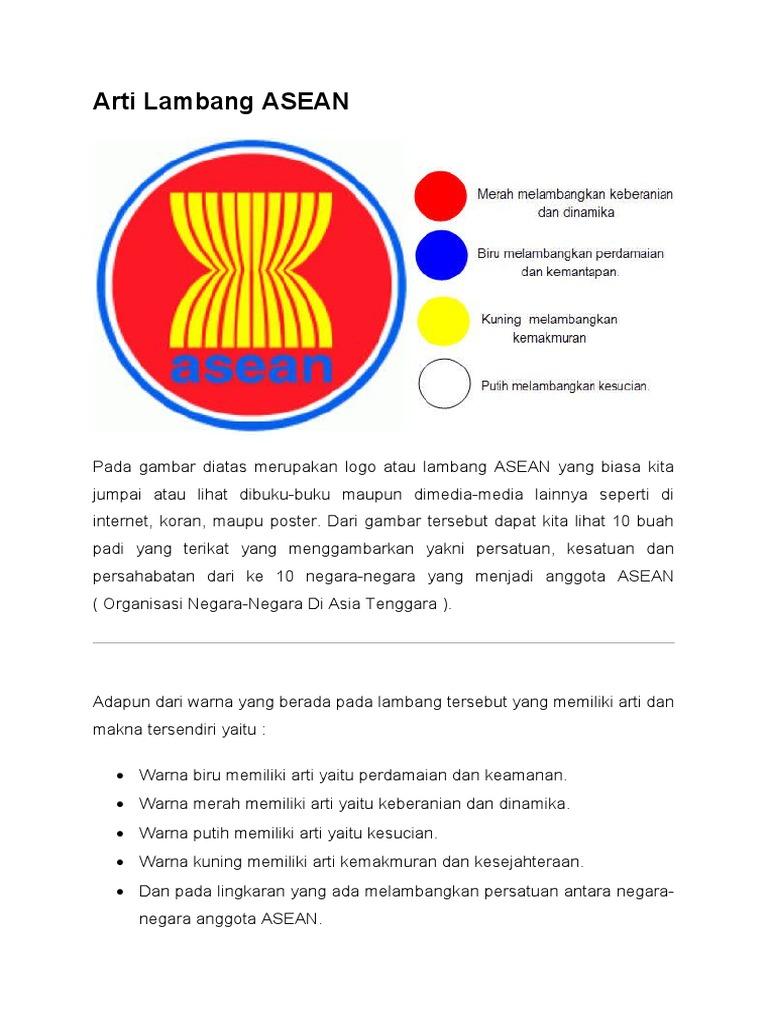 10 Lambang Negara Asean Dan Artinya Info Gtk