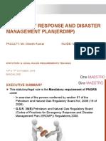 Emergency Response and disaster management plan(erdmp)