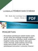 9. LEMBAGA PEMBIAYAAN SYARIAH