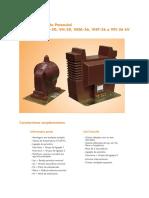 Transformador de Potencial Tipos VLT-15, VI-20, VH-20, VKM-36, VHP-36 e VFI-36 kV (PT)