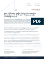 Akita Michinoku Capital Analysts Comment As Buyers Queue Up To Acquire Virgin Australia Following Collapse