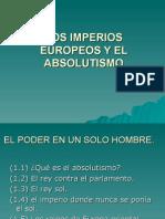 LOS IMPERIOS EUROPEOS Y EL ABSOLUTISMO