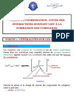 Chimie de Coordination - ALBOURINE