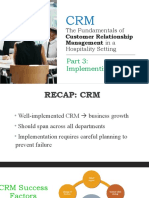 CRM in Hospitality
