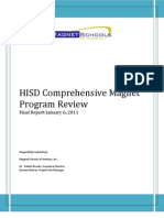 Houston ISD magnet school audit final report Jan. 6, 2011