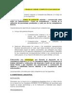 PROPUESTA DE TRABAJO SOBRE COMPETENCIAS BÁSICAS