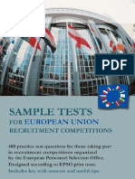 400 Tutor Sample Tests EU