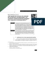 SOSA SACIO - ¿Son iguales las nociones de contenido esencial y contenido constitucionalmente protegido¿