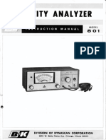 BK Model 801 Capacity Analyzer Instruction Manual