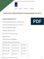 Dicção e impostação da voz _ Exercícios para melhorar a comunicação verbal