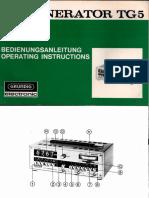 Grundig Rc-generator Tg 5