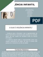 Apresentação trabalho violência infantil