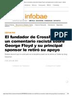 El fundador de CrossFit hizo un comentario racista sobre George Floyd y su principal sponsor le retiró su apoyo - Infobae