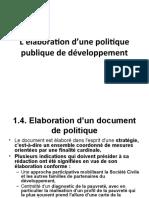 Première partie élaboration d'une politique publique de développement