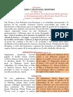 9 de Junio. San Primo y Feliciano, mártires