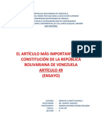 ENSAYO. EL ARTICULO MAS IMPORTANTE DE LA CONSTITUCION VENEZOLANA