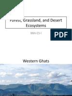 Forest, Grassland, and Desert Ecosystems