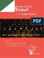 Brochure 2do Debut Teatral